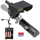 Megaorei 2A DIY 720P HD Night Vision Scope Attachment Camcorder with LCD Display and IR Flashlight for Rifle Airsoft Tactical Hunting (with 3 Batteries and 32G TF Card)