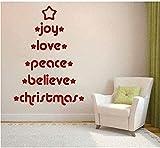 Pegatinas De Pared De Árbol De Navidad Extraíbles Pegatinas De Descuento Extraíbles Decoración Del Hogar Diy Pegatinas De Pared De Vacaciones Diy55X60Cm