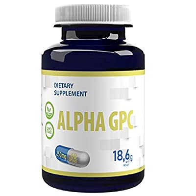 Alpha GPC Choline 500mg Serving 60 Vegan Capsules, Brain Supplement for Memory, Concentration and Focus, Dopamine and Serotonin