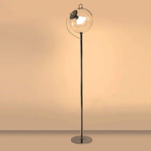 XIN Staande lamp, glazen bal, ijzer, staande lamp, woonkamer, Nordic creatieve persoonlijkheid, eenvoudige vloerlamp, moderne studie slaapkamer verlichting