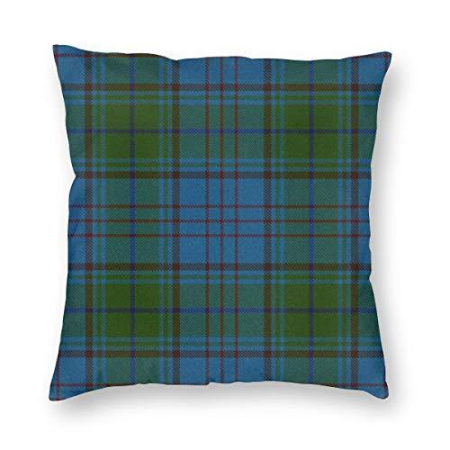 Meius Campbell Argyll Ancient Original schottisches Schottenkaro Samt weicher dekorativer quadratischer Kissenbezug Kissenbezug für Wohnzimmer Sofa Schlafzimmer mit unsichtbarem Reißverschluss 50,8 x 50,8 cm
