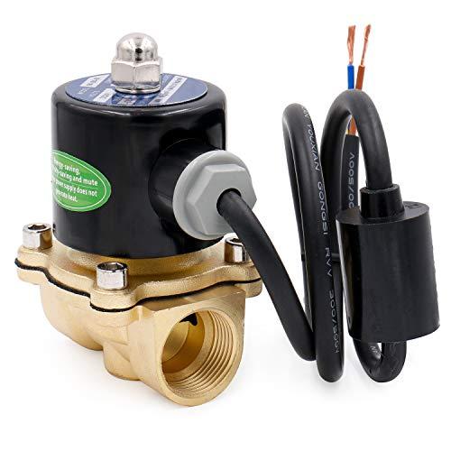 heschen Messing Elektrisches Magnetventil 3/4 Zoll AC 220 V Direct Action Wasser Air Gas Normalerweise geschlossen Ersatz-Ventil