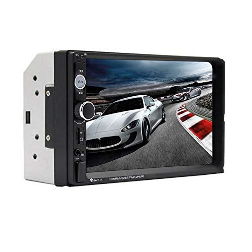 ZYHZP 2 Modelli di baccano 7' Pollici Touch Screen Bluetooth autoradio 2DIN Car Audio AUX FM Supporto Telecamera Posteriore (Color : 7023b with 12 LED)