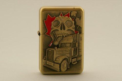 FEUERZEUG STURMFEUERZEUG BENZINFEUERZEUG Totenschädel mit Truck MAPLE LEAF