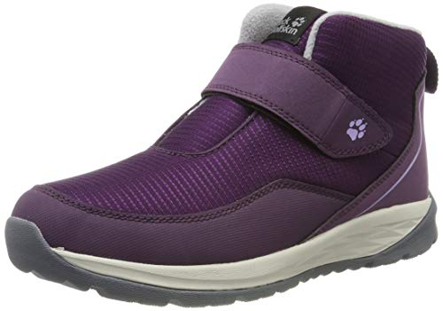 Jack Wolfskin Unisex Kinder Polar Wolf Low VC K Bootsschuh, Purple/Off-White, 33 EU