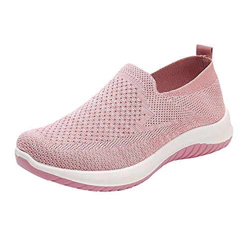 URIBAKY - Zapatos de senderismo para mujer, elegantes, informales, transpirables, suaves y de senderismo, rosa, 37 EU
