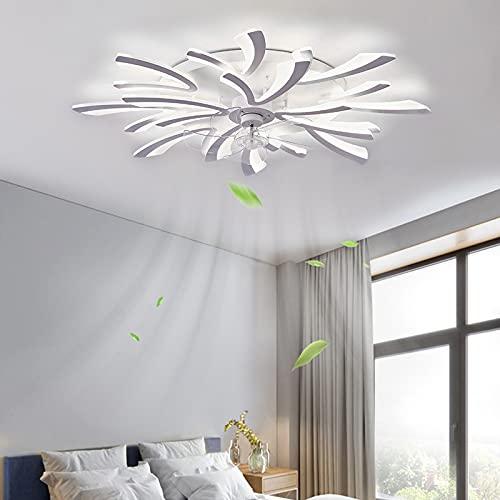 ACCZ Ventilador de Techo, Ventilador de Techo con Luz Regulable de 120 W, Ventilador de Techo de Velocidades Ajustables con Control Remoto, Temporización, 3000K-6500K