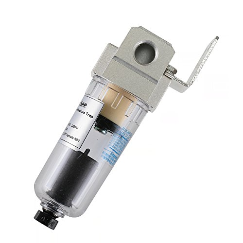 Product Image of the CrocSee C1.8C.027 1/4' NPT Thread 26CFM Automatic Drain Air Compressor Compressed In Line Particulate Moisture Water Trap Filter Separator with Mount
