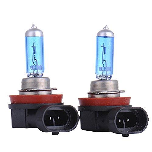 Lot de 2 ampoules LED de phares anti-brouillard arrière H11, 55 W, DC 12 V 5000 K