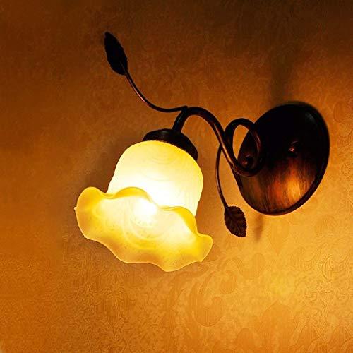 Wandleuchte Wand neoklassizistische Kunst American Pastoral Individualität Glaswasc Einzel-Kopf-Lampen Bar-Lampe Küchenlampe Nachttischlampe Wandleuchte, Schlafzimmer Lampe Flur Flur Licht helle Lampe