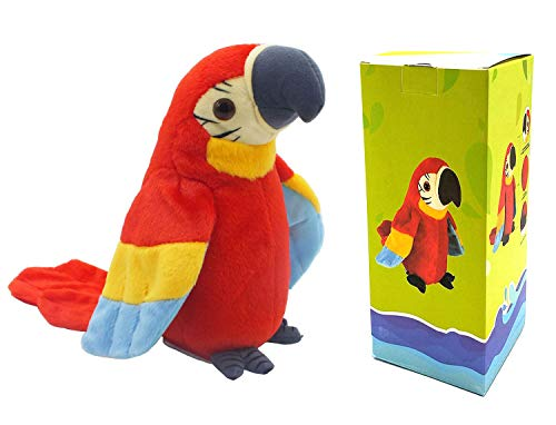 Talking Parrot Plush Toy, Repeat What You Say Funny Kids Stuffed Toys, Birthday Gift Kids Early Learning Animal Toy Electronic toy