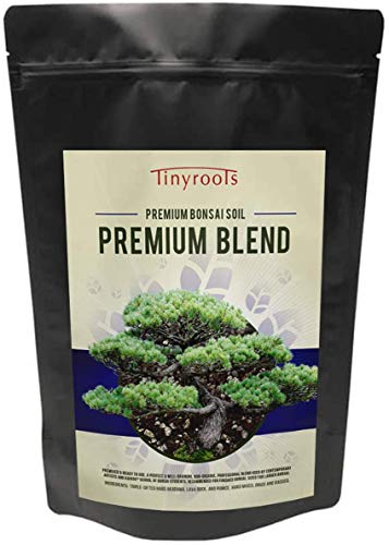 Tinyroots Premium Bonsai Tree Soil - Organic Soil Mix, Excellent for Water Retention and Root Development + Made from Genuine Akadama, Red Lava Rock and Pumice (4 Quarts)