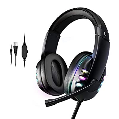 Hopemate Immersive Gaming Headset for PS5, Xbox...