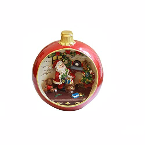 xilinshop Music Box Music Box Home Decoration Music Box Retro Western Santa Music Box Gift Resin Musical Boxes for Women Girls (Color : Christmas Song)