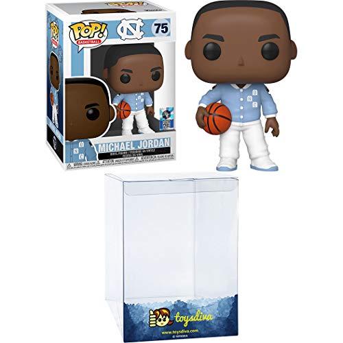 Michael Jordan: Funko Pop! Basketball Vinyl Figure Bundle with 1 Compatible 'ToysDiva' Graphic Protector (075 - 46803 - B)