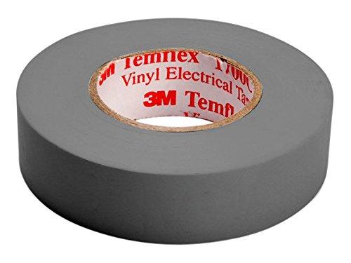 3M TGRA1510 Temflex 1500 Vinyl Elektro-Isolierband, 15 mm x 10 m, 0,15 mm, Grau
