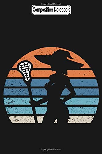 Composition Notebook: Vintage Lacrosse Girl Retro Halloween Witch Lacrosse Costume Lacrosse Notebook 2020 Journal Notebook Blank Lined Ruled 6x9 100 Pages