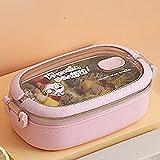 Fiambrera portátil de Acero Inoxidable 304 para Trabajadores de Oficina Bento Box Contenedor de Comida para Estudiantes y...