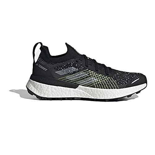 adidas Terrex Two Ultra PRIMEBLUE W, Zapatillas de Trail Running Mujer, NEGBÁS/FTWBLA/Amasol, 42 2/3 EU