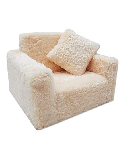 Odolplusz Kindersessel Mini-Sessel Kinderstuhl Relaxsessel Kuschelsessel (Beige)