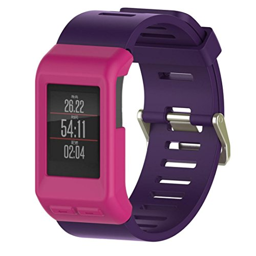 TPulling, cover per smartwatch GPS Garmin Vivoactive HR, sottile, in silicone, Pink