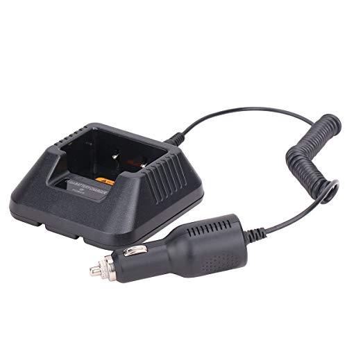 Baofeng - Caricabatterie da tavolo con cavo di ricarica da 12 a 24 V, per radio bidirezionale Baofeng UV-5R BF-8HP UV-5RX3 UV-5RTP UV-5R MK2 MK3X MK5 Plus, ecc.