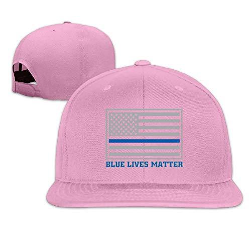 Lsjuee AdultCaps, Vintage Blue Lives Matter Ajustable Hip Hop FlatbrimCaps