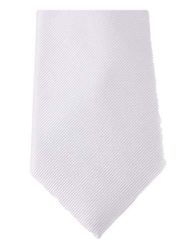 David Van Hagen Blanc Diagonal côtelé cravate de