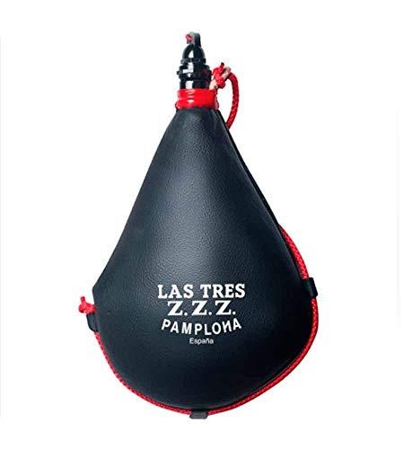 Las Tres Z.Z.Z. Bota de Vino Suprema de Latex Recta - 1 litro