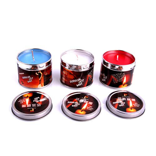 BESTOYARD Romantic Sex Candles Low Temperature Wax Dripping Candles Roleplay Accessories for Couples Adults Lovers 3PCS(Red/Blue/White)