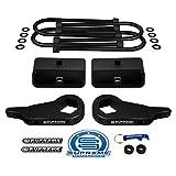 Supreme Suspensions - Full Lift Kit for 1997-2012 Ford Ranger Adjustable 1' to 3' Front Lift Torsion Keys + 2' Rear Lift Blocks + Round Bend U-Bolts