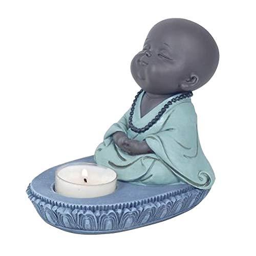Jolie bougie chauffe-plat petit moine bouddhiste