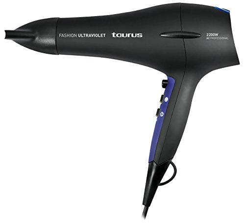 Taurus Fashion Ultraviolet–Haartrockner 2200W, 2Leistungsstufen, 3Temperaturstufen) schwarz und violett