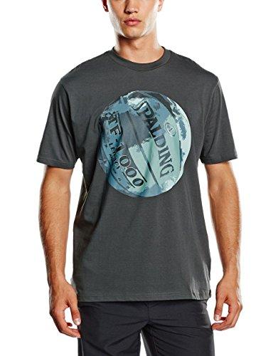 Spalding t-Shirt pour Homme Legacy M Noir - Anthracite