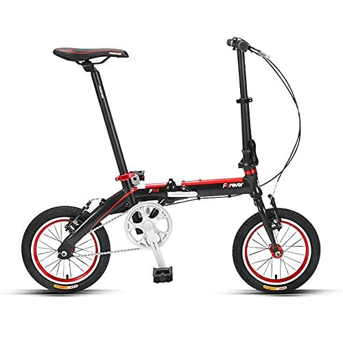 Bicicleta PortáTil, Bicicleta Plegable de AleacióN de Aluminio, Ruedas de 14 Pulgadas, Utilizada para Desplazamientos Laborales, Excursiones, Adecuada para Estudiantes, Adultos/A/Como s