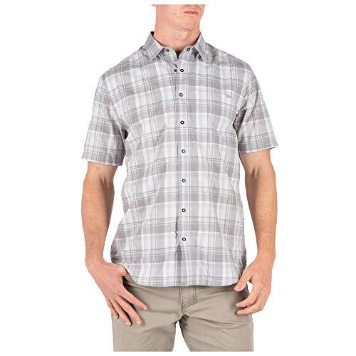 5.11 camisa táctica de manga corta de algodón de poli para hombre, estilo 71374 - 71374-147-XS, XS, Cuadros Batalla Naval