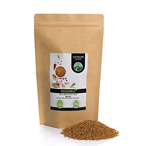Semi di fieno greco interi (500g), 100% naturali, senza additivi, vegani, semi di fieno greco