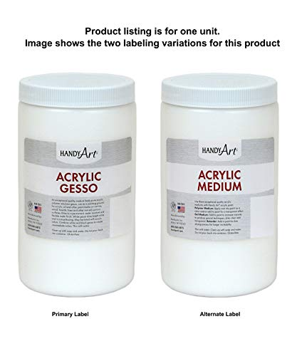 Handy Art Student Acrylic, 32 oz, White Gesso/Medium