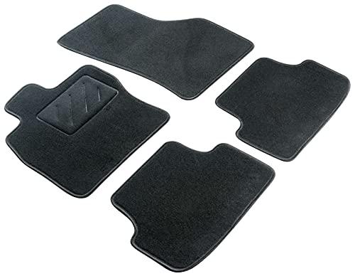 WALSER Alfombras de coche Velour fieltro de la aguja compatible con Honda Civic R 3 puertas pequeño, Civic S 3 puertas pequeño 05/2007-01/2012