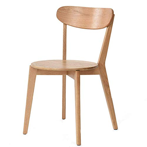 YLLN Esszimmerstühle Küchenstuhl Moderne Einfachheit Bogenrückenlehne Massivholzrahmen mit 3 Farben 43x43x79cm (Farbe: Walnuss)