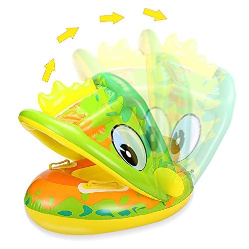 Sunshine smile Flotador hinchable para bebé, con protección solar, flotador para bebés, flotador para bebés