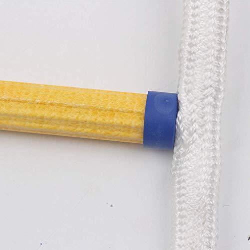 MU Verschleißfeste Sicherheits-Strickleiter 5M, 10M, 15M, 20M, Kletterleiter mit D-Lock-Schnalle aus Aluminium für die Luft- und Raumfahrt Baumhaus-Strickleiter,A,15M