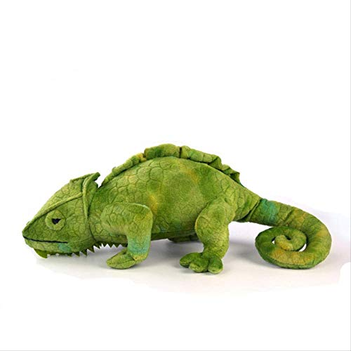 CHAOZHENG Juguete de Peluche camaleón Verde Realista, Peluche de Reptil Salvaje Suave y Realista, cumpleaños de niño niño
