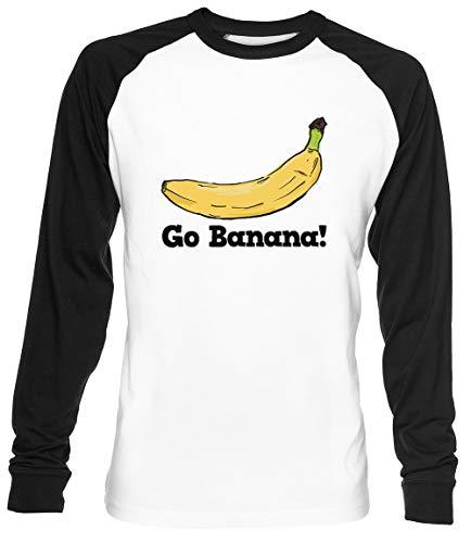 Go Banana! Unisex Blanca De Béisbol Camiseta Hombre Mujer Baseball T-Shirt