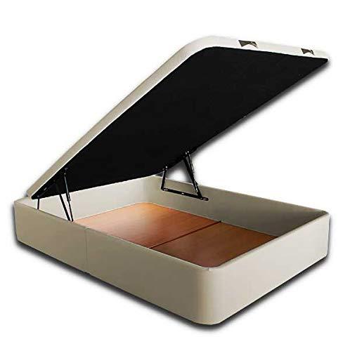 Ventadecolchones - Canapé Abatible Serena Gran Capacidad Tapizado en Polipiel Crudo Medidas 150 x 200 cm en Tejido 3D