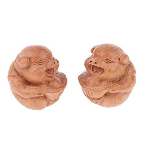 1pair Qi Gong Kugeln aus Holz, Massage Ball Hand Übung Werkzeug