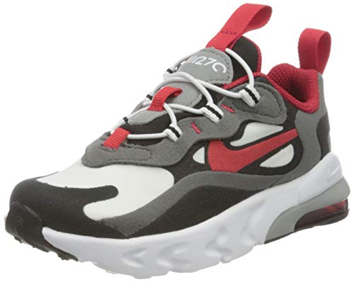 Nike Air MAX 270 RT (TD), Zapatillas de Gimnasio Unisex Niños, Iron Grey Univ Red Black White, 25 EU