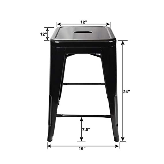 UrbanMod 24 Inch Bar Stools for Kitchen Counter Height, Indoor Outdoor Metal,Rustic Gunmetal. 2 ✅PERFECT FOR KITCHEN OR OUTDOOR, HOME OR BUSINESS! LOVE THEM OR WE'LL SEND YOUR MONEY BACK! -Tired of wobbly stools that just look cheap? Ready for some modern, stable, sleek counter stools for your home or business? No more cheap, wobbly barstools! ✅THE ONLY SUPER DURABLE, MODERN, PERFECT-HEIGHT COUNTER STOOLS WITH A LIFETIME WARRANTY! -Most imitators are too short or don't quite fit right! Those hold only 200 lbs, our holds up to 330 lbs…and safe for both inside and outside! These are perfect. ✅ PERFECT FOR YOUR BAR/RESTAURANT (STACKABLE), AT HOME, OR YOUR GARAGE! NOTHING ELSE COMPARES -Don't price shop; imitators are cheap & uncomfortable. You're ready for your breakfast bar, kitchen, or shop to have sleek, strong stools, right?