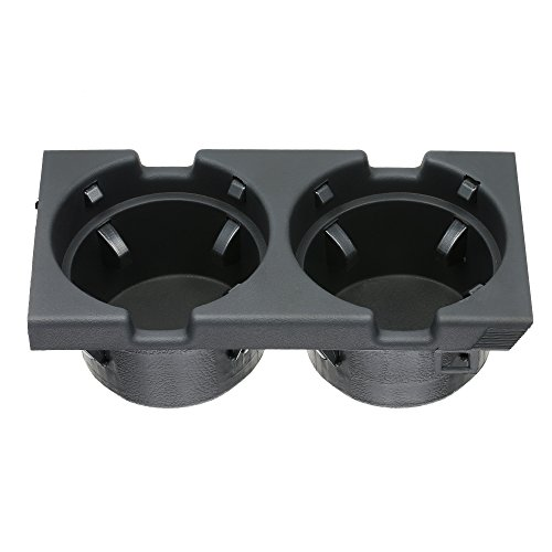 KKmoon Car Front Center Console Getränkehalter Warenspeicher 51168217953 Kompatibel mit BMW 3er E46 1999-2005