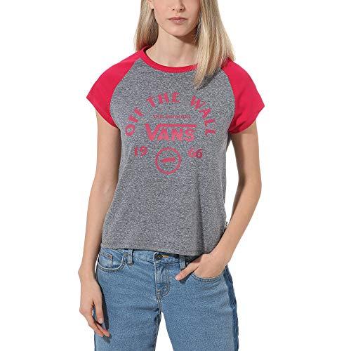 Vans Attendance Ringer Raglan T-Shirt Damen Grau M (Medium)